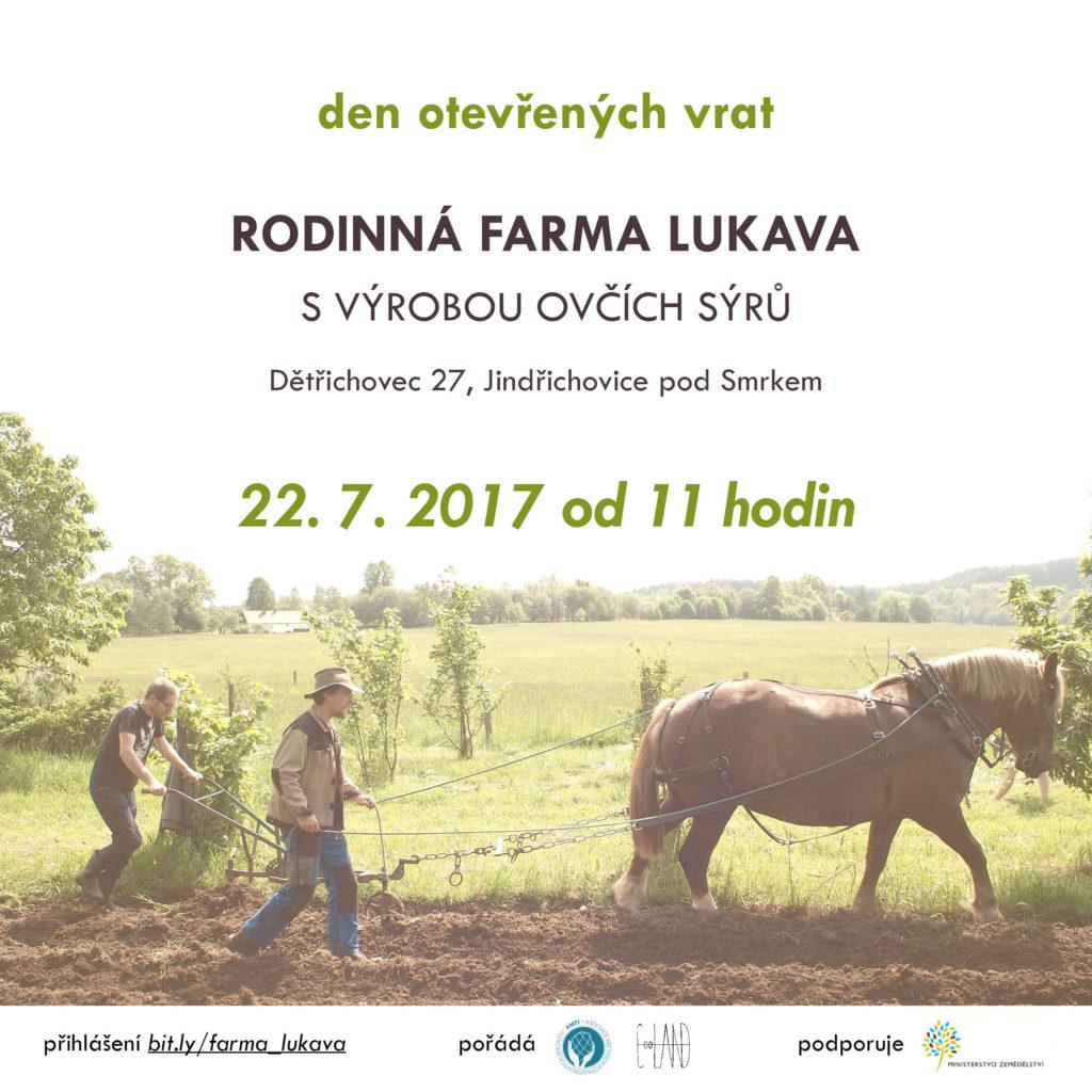 Pozvánka Farma Lukava 22.7.2017